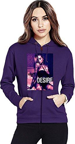 Arabella Drummond Edge Of Desire Womens Zipper Hoodie X-Large -