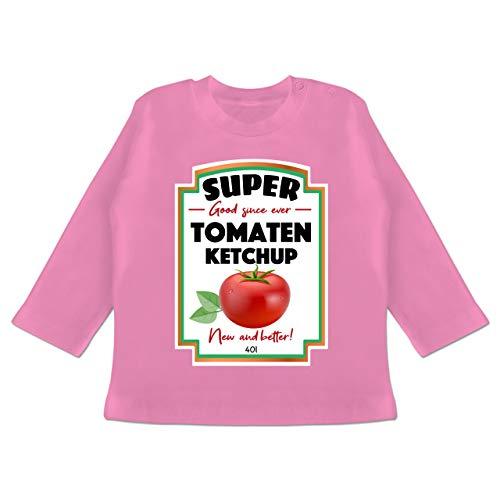 Karneval und Fasching Baby - Ketchup Kostüm Funny - 12-18 Monate - Pink - BZ11 - Baby T-Shirt (Ketchup Kostüm Baby)