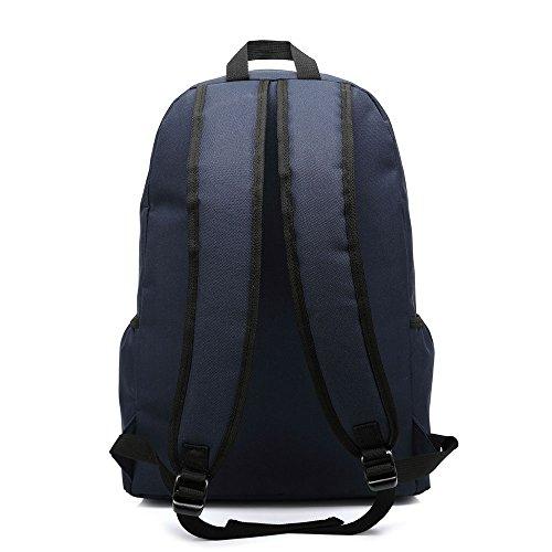Meiye Unisex Zaino alla moda Outdoor alpinismo Viaggiare Tessuto casuale Borsa impermeabile materiale per studente universitario Camping Escursionismo Canvas Zaino Laptop Zaino (blu scuro) blu scuro