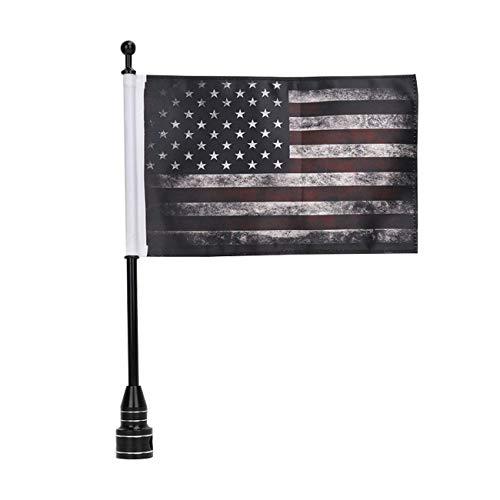 E-Most Motorrad 15,2 x 22,9 cm Amerikanische Flagge USA + Fahnenmast Halterung für Honda Goldwing CB VTX CBR Yamaha Harley Davidson