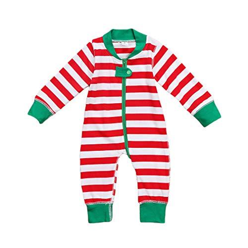 ugeborenen Jungen Mädchen Gestreiften Lange Strampler Overall Outfit Nette Kleidung Baby Jungen Mädchen Weihnachten Strampler ()
