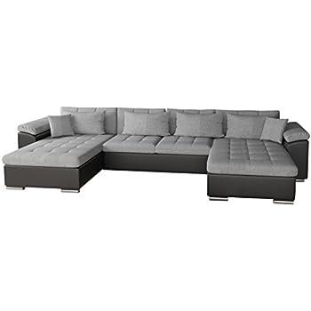 Couch u form schlaffunktion  Ecksofa Wicenza Bris! Elegante Big Sofa mit Schlaffunktion ...