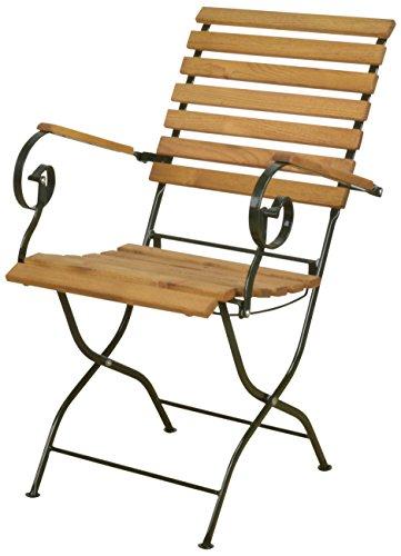 Esschert Design Chaise Pliable en Bois et métal