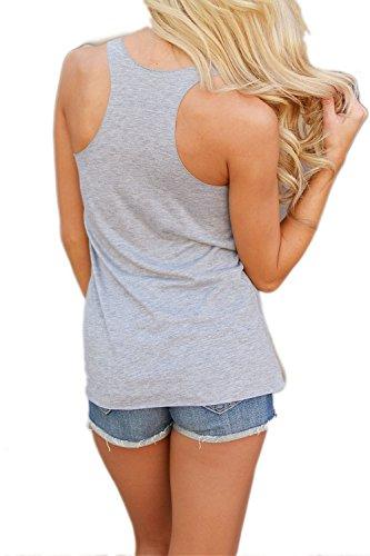 Ärmelloses T-Shirt mit Yacun Frauen Grey
