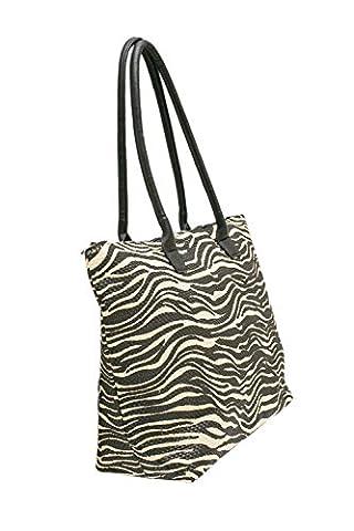 Beach Bag Womens Summer Tote Shoulder Bags Animal Print- Airee Fairee