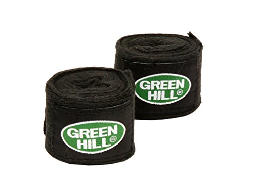 Green Hill Bandagen / Boxbandagen / GRÖßENAUSWAHL / FARBAUSWAHL (Schwarz, 5cm x 3,5m)