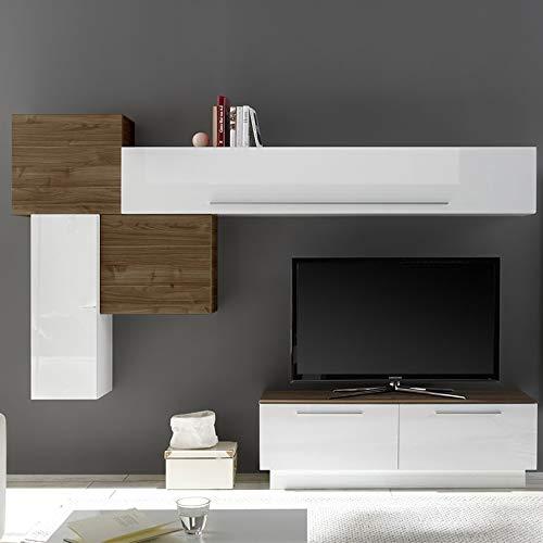 NOUVOMEUBLE Novara - Mueble de Pared para televisor, Color Blanco ...