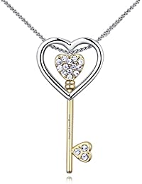 Young & Forever Mothers Day Gifts Timeless Treasure Austrian Crystal Edition Rhodium Plated Alloy Gold Key To...