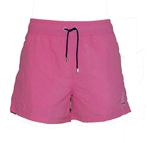 HOM Herren Badeshort 10119960 Marine Chic Boxer Short Pink-Dark