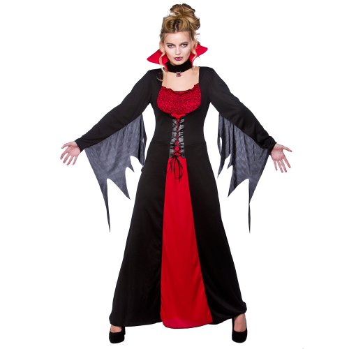 (XXL) Damen Classic Vampirin Halloween Kostüm für Fancy Dress Damen XXL Vampirin