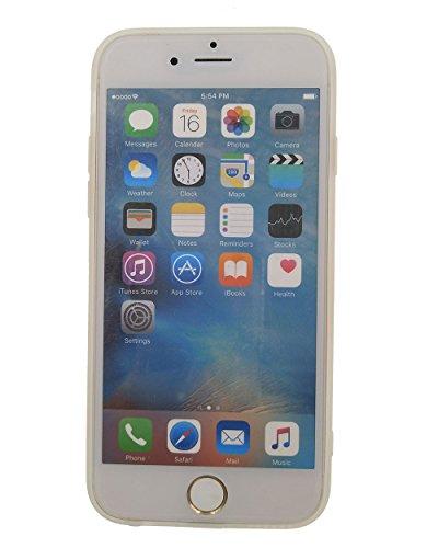 2x iPhone 6 / 6S Hülle, BENKER Hohe Qualität Kreativ Anti-Kratz Nicht Verblassen TPU Silikon Matte Telefon Fall (Hirsch,Blumen) Hirsch