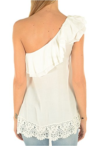 GUESS - Top donna t-shirt regular fit hausis w72h79w8gm0 White