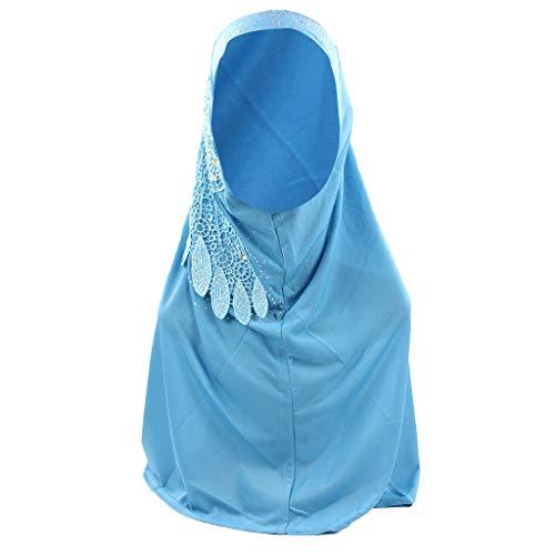 VRTUR Muslimische Damen Hidschab Schal Ramadan Kopfbedeckung Hijab Islamischen Turban Hut Hals Chemo Kappe Mit Kristall und Stickerei Schal Kopftuch ()