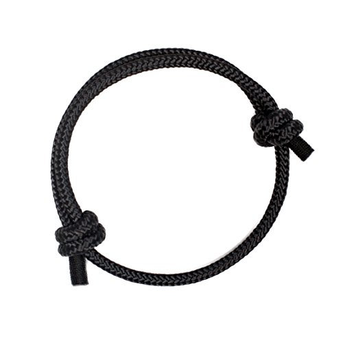 Pulsera Náutica Elegante Negra de Cuerda de la Más Alta Calidad para Hombre