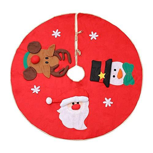 Szseven Falda Roja del Árbol De Navidad, Ornamento De Los ...