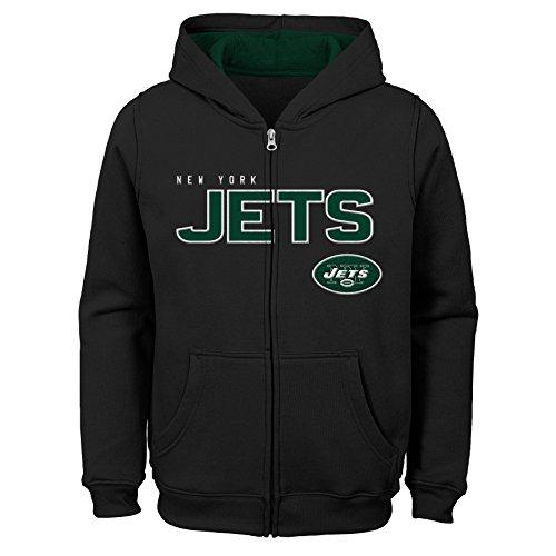 NFL New York Jets Kinder & Jugendliche, Fleece-Kapuzenpullover, Schwarz, Gr. XL (18 Jahre)