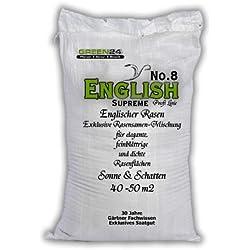 English No.8 SUPREME eleganter Englischer Rasen für Schatten & Sonne - Rasen-Samen Saatgut Premium