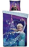 Trendstern Trendprodukteshop Frozen Eiskönigin 135 x 200 cm Bettwäsche Biber Fleece