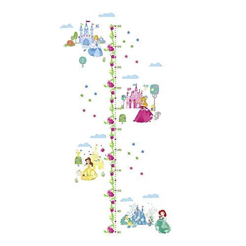Wandtattoo Wandaufkleber Für Schlafzimmer Für Mädchen Für Schlafzimmer Kinder Schlafzimmer Höhe Wachstum Chart Messen Dekor Vinyl Prinzessin (Mädchen Für Prinzessin Chart Wachstum)