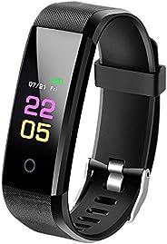 SmartBand Activity Tracker con misurazione della pressione sanguigna, smartwatch fitness tracker con cardiofre