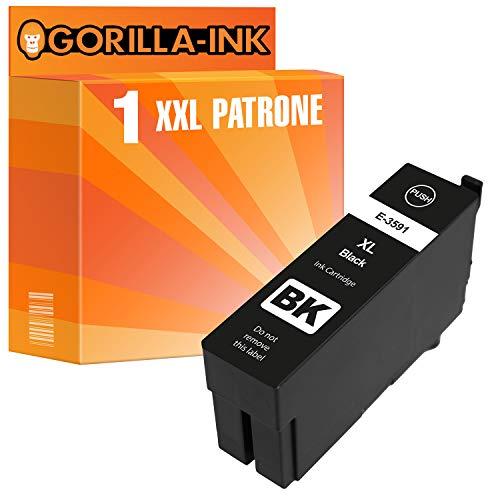 epson nachfuellpatronen Gorilla Ink 1 Druckerpatrone XXL GI35XL Black für Epson Workforce Pro WF-4720 DWF WF-4725 DWF WF-4730 DTWF WF-4735 DTWF WF-4740 DTWF