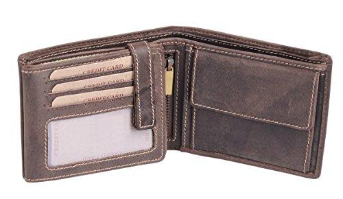 Scheintasche LEAS in Echt-Leder, braun - ''LEAS Vintage-Collection''