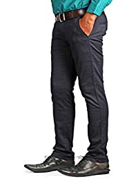 Denim Vistara Men's Slim Fit Blue Trouser