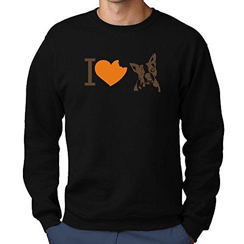 Teeburon I Love Boston Terriers Sweatshirt Boston Terrier Sweatshirt
