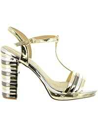 8be2a0f8c93 Amazon.es  Sandalias Color Plata - Sandalias de vestir   Zapatos ...
