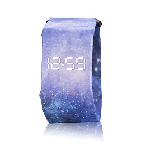 Kreative Papier Uhr, OOOUSE LED Wasserdichte Tyvek Kohlefaser Starke Durable Digital Papier Band