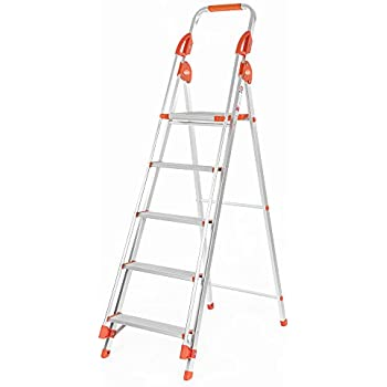 Bathla Zenith 6-Step Foldable Aluminium Ladder with Hand