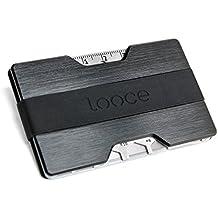 Kreditkartenetui aus Aluminium mit Geldklammer und Multitool | Elegantes Slim-Wallet für bis zu 16 Karten | RFID & NFC Schutz | Minimalisten Portemonnaie / Geldbörse | Kreditkartenhalter mit Geldclip