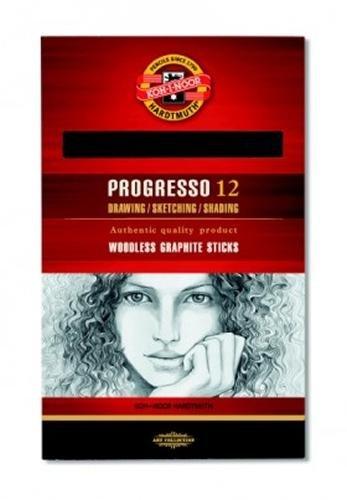 sg-education-k891102b-koh-progresso-woodless-graphite-stick-2b-size-pack-of-12