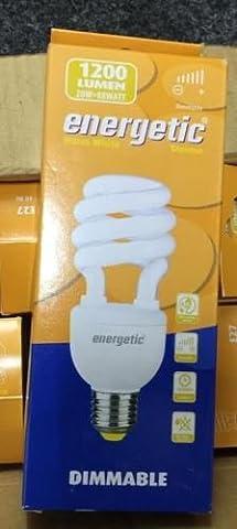 Energetic E2720W Blanc Chaud 1200lm Variateur d'intensité Energy Saver ampoule spirale