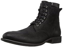 Aldo Derrian Combat Boot Black Leather 10.5 D(M) US