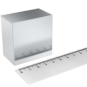 neodym quadermagnet 50x50x30 mm grade n52 nickel sehr starker magnet f r den professionellen. Black Bedroom Furniture Sets. Home Design Ideas