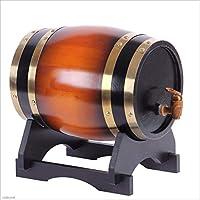Barril de vino Multifuncional 3L-50L Wine Oak Barrel, White Wine Red Wine Barrel Decoración del hogar Wine Barrel Beer Barrel (Color : Brown, Tamaño : 5L)