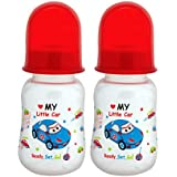 Mee Mee Premium Baby Feeding Bottle, 125ml, Red (Pack Of 2)