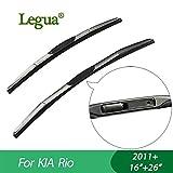 """RAISSER® Legua Wiper Blades for KIA Rio (2011+) 16""""+26"""" car Wiper 3 Section Rubber windscreen Wiper Car Accessory"""
