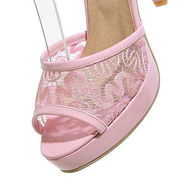LvYuan Da donna-Sandali-Formale Casual Serata e festa-Altro-Quadrato-PU (Poliuretano)-Nero Rosa Bianco Pink