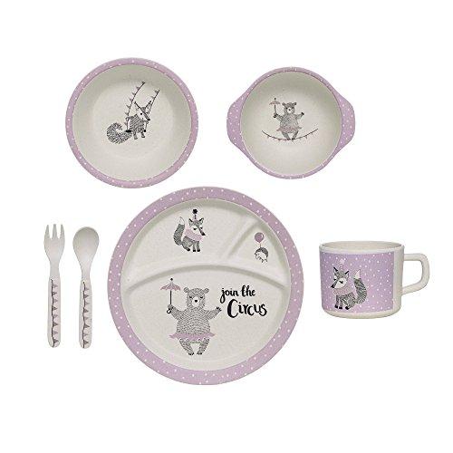 Bloomingville-Service-complet-vaisselle-pour-enfant-Circus-Blanc-cass-Violet-clair-6-pices