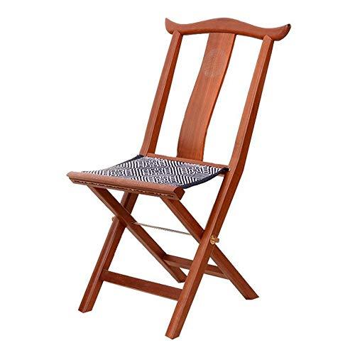 QIDI Klappstuhl , Lounge Chair , Bürostuhl , Esszimmerstuhl , Redwood , Stoffgewebter Gürtel , Handweben - 38 * 29 * 79cm - Birnenfarbe (Farbe : Pear Color)