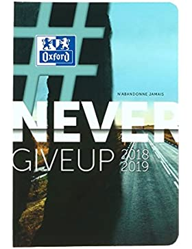 Oxford 100735768Never Give Up 2018–20191–Agenda escolar día página, 12x 18cm, Ruta