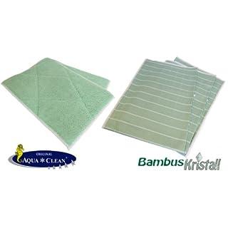 Aqua Clean Bambus Kristall Tücher 5er Set | Bambus Kristall Vorreinigungstücher | Bambus Kristall Fasertücher