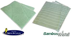 Aqua Clean Lot de 5chiffons de bambou cristal
