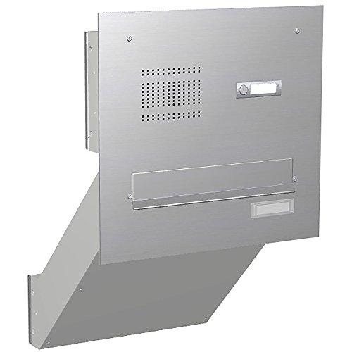 Max Knobloch Mauerdurchwurf-Briefkastenanlage mit Funktionstasten Express Box MD11-OR-E Edelstahl (12 Liter)