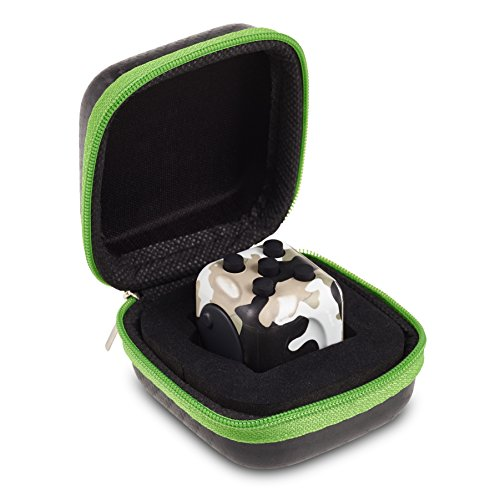 Original Envolve Camouflage Fidget Cube (Khaki Green) – For focus, calm anxiety, and break nervous habits (Gift Packaging)