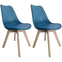pierimport chaise scandinave bleue tony2 lot de 2 - Chaise Scandinave Bleu