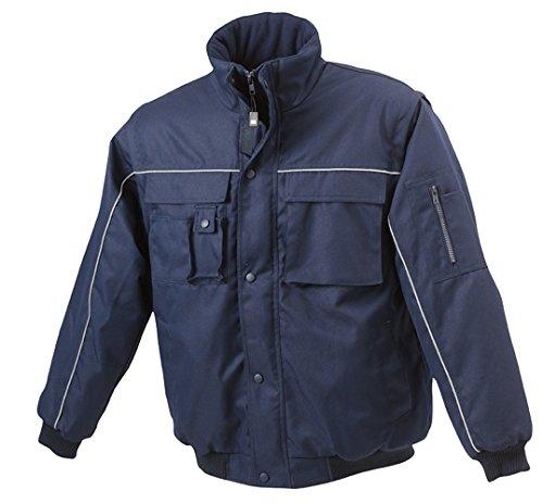 JN810 Workwear Jacket Robuste, wattierte Herrenjacke mit abnehmbaren Ärmeln Navy-Navy