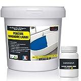 PEINTURE BAIGNOIRE LAVABO - Résine rénovation baignoire lavabo émail salle de bain - RAL 9003 Blanc, Kit 1kg jusqu'a 3m² pour 2 couches